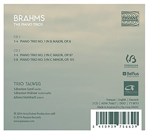 Brahms : Les trios pour piano. Trios Talweg.
