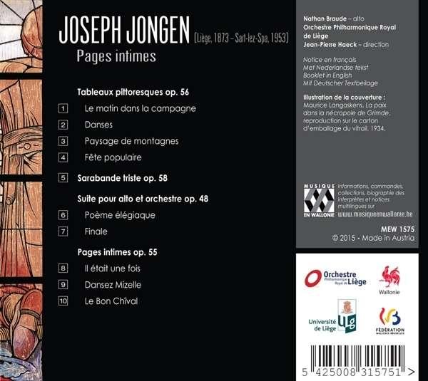 Jongen, Joseph: Pages Intimes