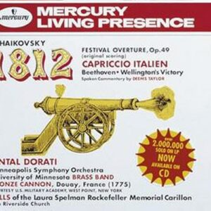 Tchaikovski : Ouvert.1812-Beethoven-Wellington'S Vict.Dorati-M