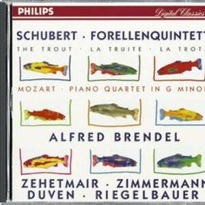 Schubert : Quintette 'La truite D. 667. Brendel, Duven, Riegelbauer, Zehetmair, Zimmerman