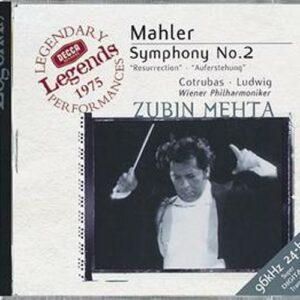 Mahler : Symphonie N 2-Cotrubas-Ludwig-Wp-Mehta