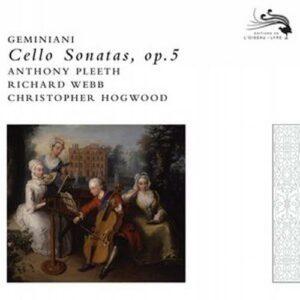 Geminiani : Sonates violoncelle. Hogwood.