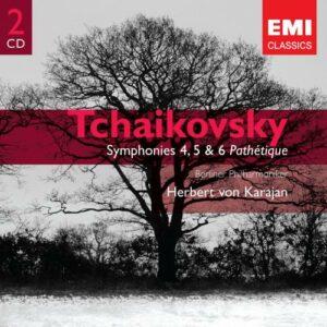 Tchaikovski : Symphonies 4, 5 & 6. Karajan