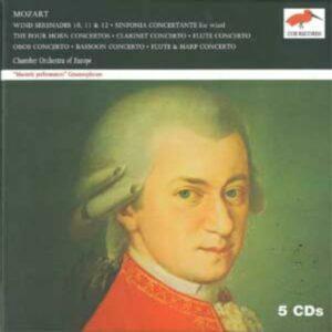 Wolfgang Amadeus Mozart : Sérénades, concertos, sinfonia concertante pour vents