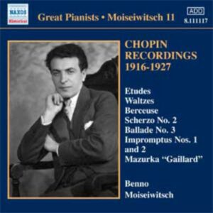 Moiseiwitsch : Chopin Recordings 1916-1927