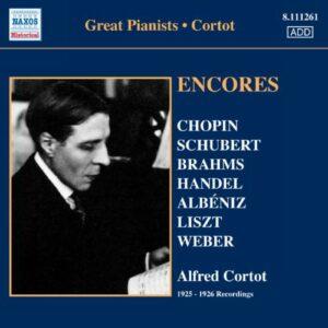 Cortot : Encores