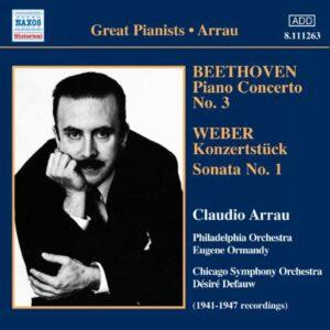 Beethoven : Concerto n° 3. Arrau.