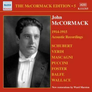 John Mccormack : Acoustic recordings vol. 5 (1914-1915).
