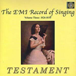 The EMI Record of singing : volume 3 : 1926-1939