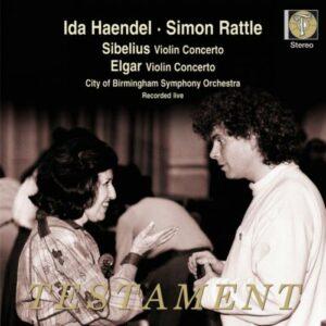 Sibelius : Concertos pour violon, op.47. Rattle.