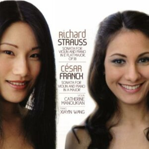 Strauss, Franck : Sonates pour violon et piano. Manoukian, Wang.