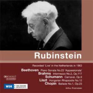 Arthur Rubinstein : Beethoven, Brahms, Schumann.