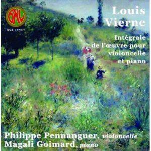 Vierne : Œuvres pour violoncelle et piano. Pennanguerm.
