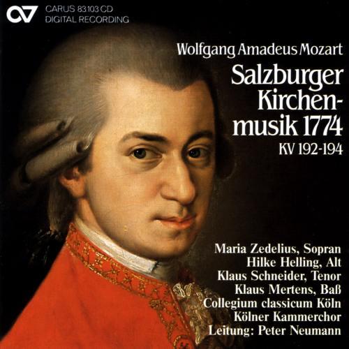Mozart : Musique sacrée de Salzburg 1774