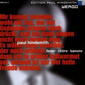 Hindemith : Lieder - Chœurs - Canons