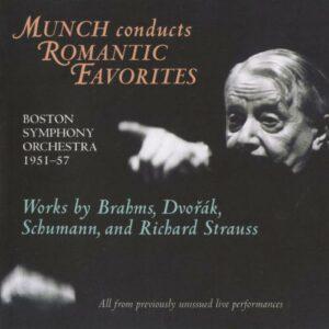 Munch : Brahms, Dvorak, Schumann, Strauss.