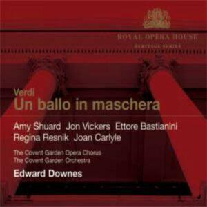 Verdi : Un bal masqué. Vickers, Bastianini, Downes.