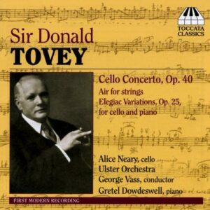 Tovey : Concerto pour violoncelle