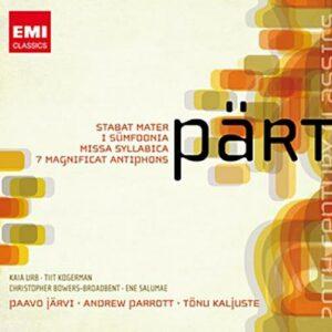 Pärt : Symphonie n° 1, œuvres chorales. Järvi, Parrott, Kaljuste.