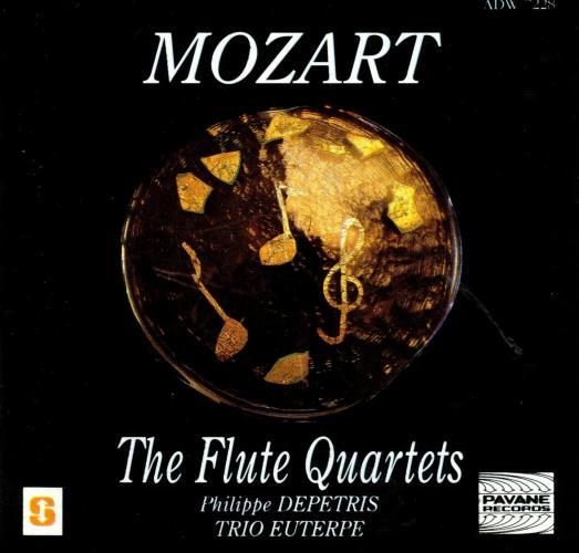 Mozart : Flute quartets. Depetris/ Trio Euterpe.