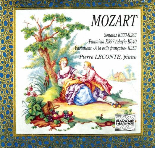 Mozart : Sonatas for piano. Leconte, P.
