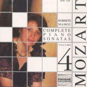 Mozart : Complete piano sonatas vol.4. Mamou, R.