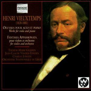 Vieuxtemps, Henri : Works for viola & piano/Fantasia appassionata. Gilissen/Vanden Eynden.