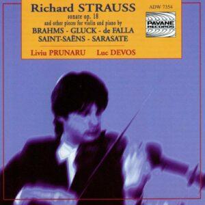 Strauss/Brahms/Gluck/… : Sonata for violin & piano op.18/Pieces . Prunaru/Devos.
