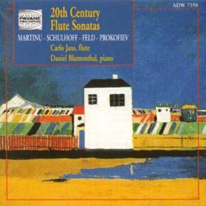 Martinu/Feld/Schulhoff/Prokofiev : XXth century flute sonatas. Jans/Blumenthal.