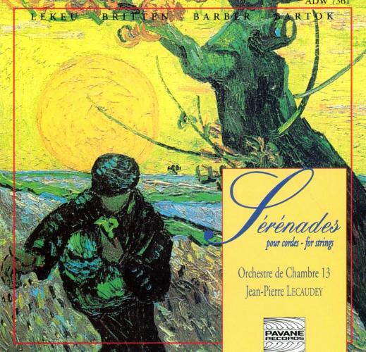 Britten/Barber/Lekeu/Bartok : Simple Symphony/Adagio/Rumanian folk dances. Orchestre de Chambre 13/Lecaudey.