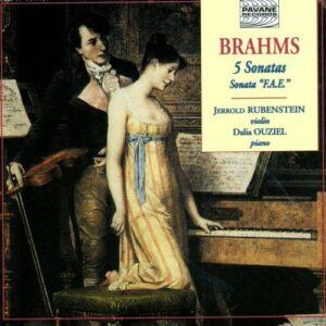 Brahms : 5 sonatas for violin & piano. Rubenstein/Ouziel.
