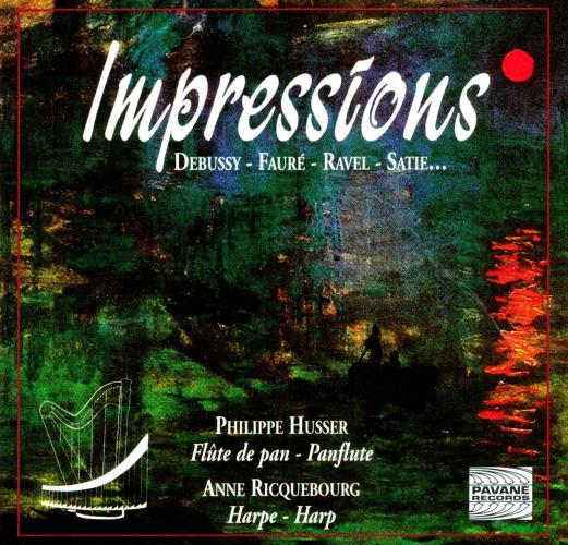 Pan flute & harp recital : Impressions. Husser/Ricquebourg.
