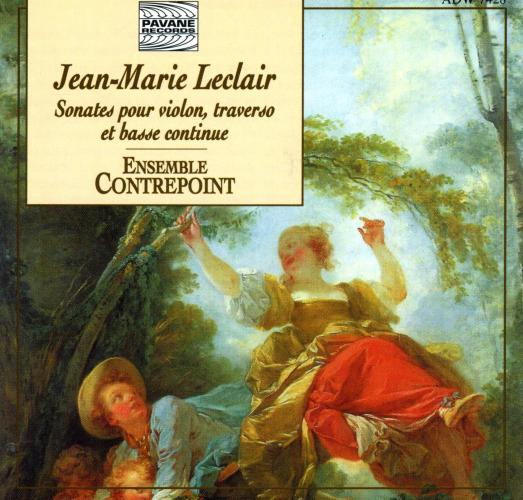 Leclair : Sonatas for flauto, violin and continuo. Lamfalussy/Ensemble Contrepoint.