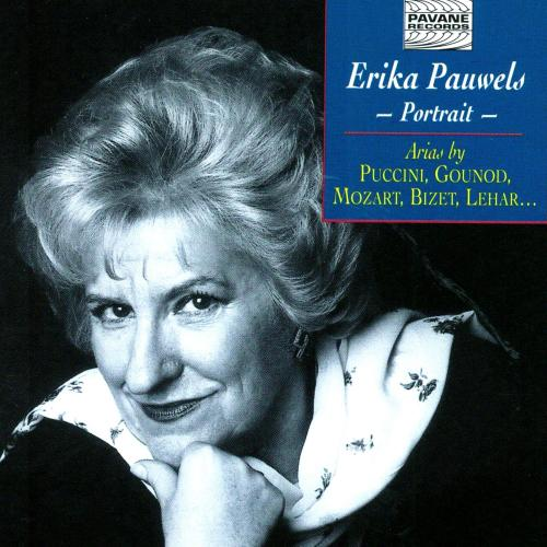 Portrait of the Belgian soprano. Pauwels, E.