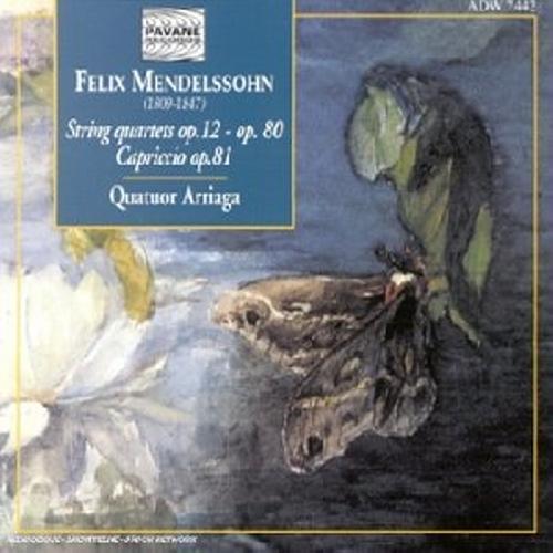 Mendelssohn : Complete string quartets vol.1. Arriaga Quartet.