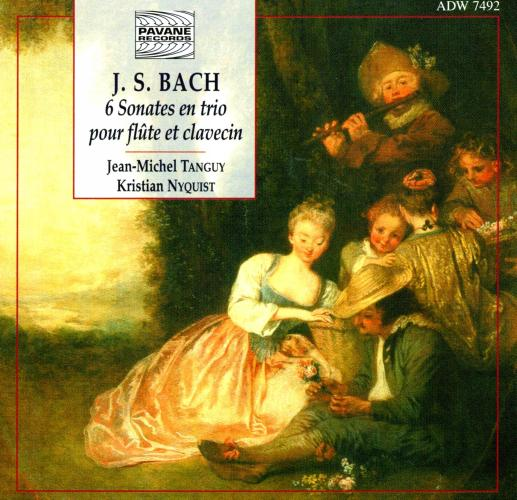 Bach : Six sonatas for flute and harpsichord. Tanguy/Nyquist.
