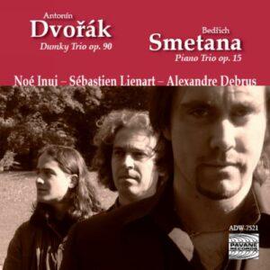 Dvorak/Smetana : Piano trios . Debrus/Inui/Lienart.