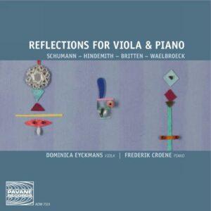 Réflexions. Musique pour alto et piano. Eyckmans, Croene.
