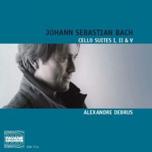 Bach, J.S. : Cello suites No. 1, 2 & 5. Debrus, Alexandre.