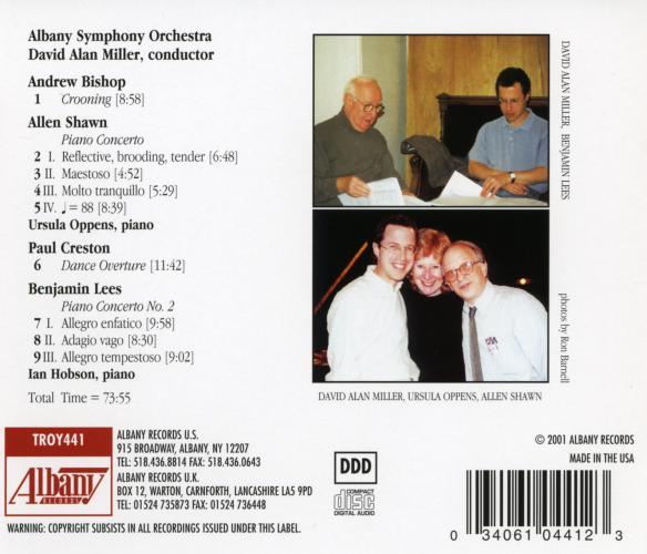 Lees - Shawn : Concertos pour piano