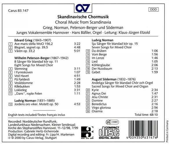 Grieg - Söderman… : Musique chorale scandinave