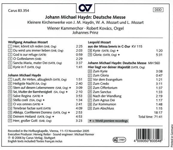 Haydn J.M. : Deutsche Messe