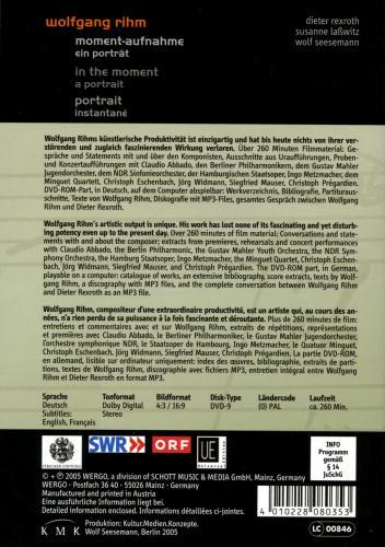 Rihm : Sa vie, son œuvre - Un portrait (DVD)