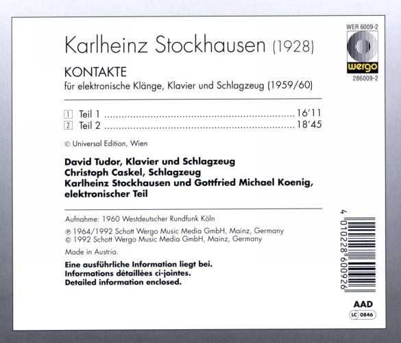 Stockhausen : Kontakte