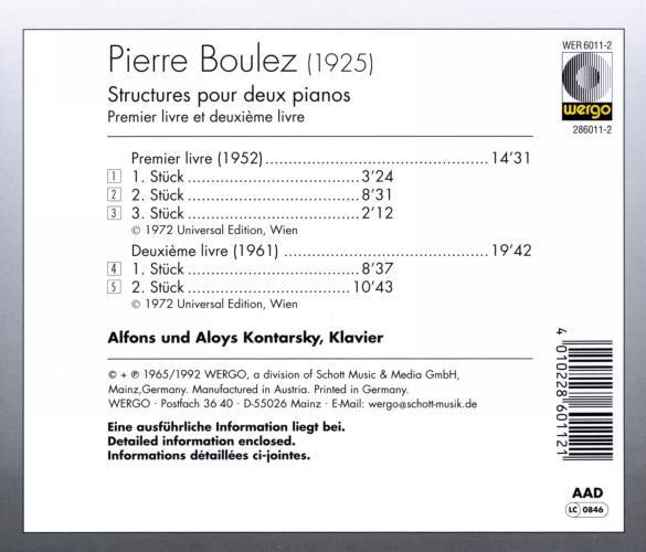 Boulez : Structures pour 2 pianos