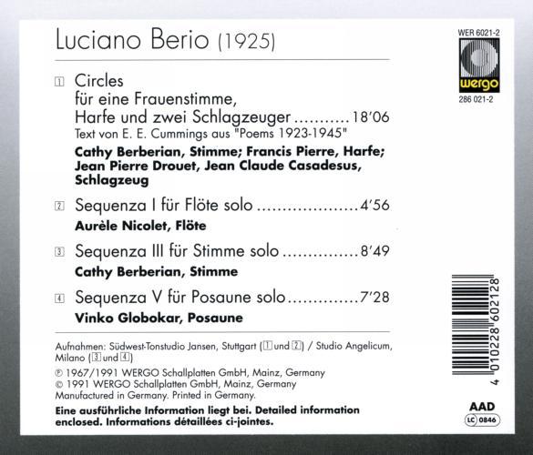 Berio : Circles - Sequenzas…