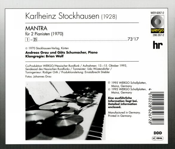 Stockhausen : Mantra pour 2 pianos