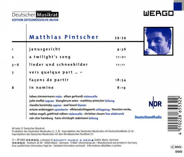 Pintscher : Portrait du compositeur