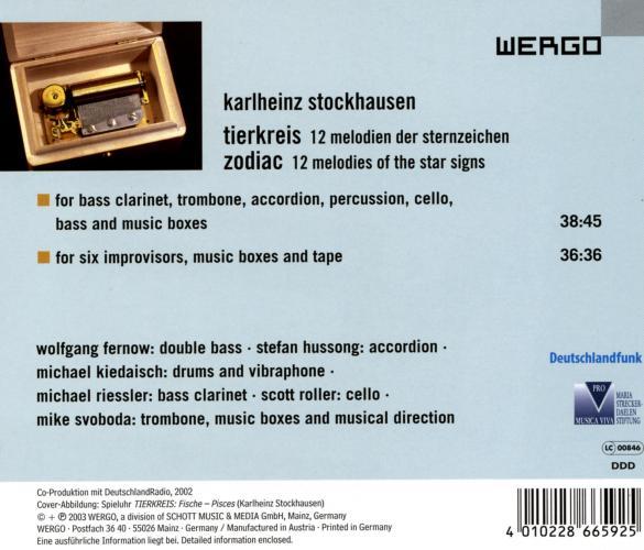 Stockhausen : Tierkreis - Zodiac