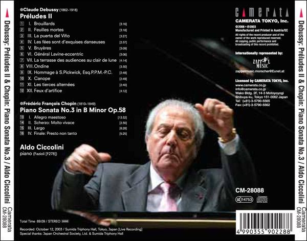 Chopin : Sonate n°3. Ciccolini